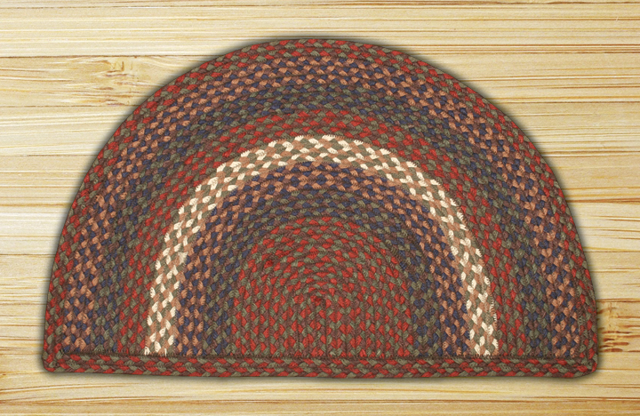 Rug Slice Burgundy And Gray Jute Braided Earth Rug 174