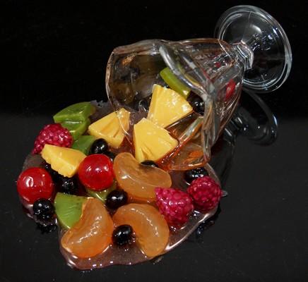 Fake Food Spilled Fruit Cocktail