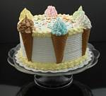 Fake Food Ice Cream Cone Cake On Pedestal Tray
