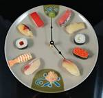 Fake Food Sushi Clock