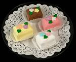 Fake Food Petit Fours On Plate 4pcs