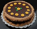 Fake Food Chocolate Daisy Cake