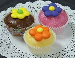 Fake Food Mini Cupcakes set of 3