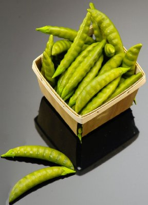 Fake Food Pea Pods In Basket