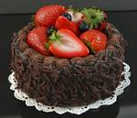 Fake Food Chocolate Cake With Strawberries & Blueberries