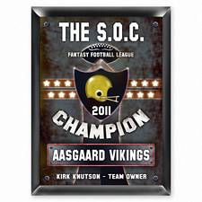 Personalized Fantasy Football Champion Plaque
