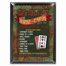 Personalized House of Cards Pub Sign