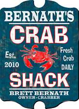 Vintage Personalized Crab Shack Pub Sign