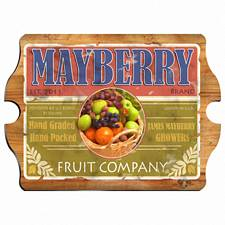 Vintage Personalized Fruit Company Sign