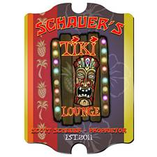 Vintage Personalized Tiki Lounge Sign