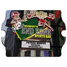 Personalized Marquee End Zone Sports Bar Vintage Sign
