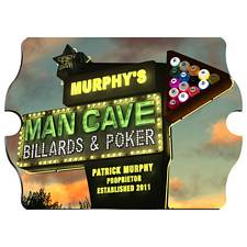 Personalized Marquee Man Cave Vintage Sign