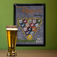 Personalized Billiards Tavern Sign