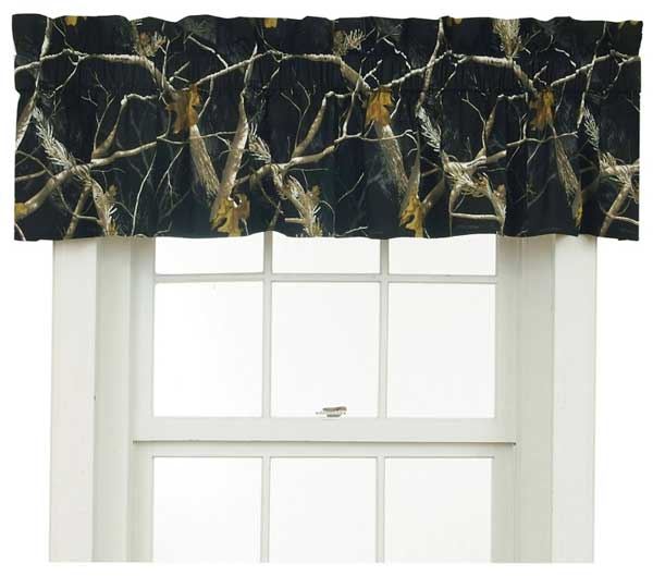 Black And White Camouflage Designer Window Curtains