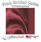 Satin Duvet Cover Twin Size Burgundy Color