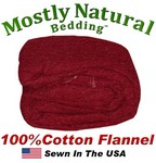 Flannel Duvet Cover Three Quarter Size Burgundy Color