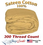 Sateen Duvet Cover Three Quarter Size Carmel Color