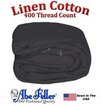 Linen Duvet Cover Three Quarter Size Charcoal Color