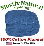 Flannel Duvet Cover Three Quarter Size Denim Color