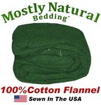 Flannel Duvet Cover Three Quarter Size Hunter Green Color