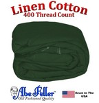 Linen Duvet Cover Three Quarter Size Hunter Green Color