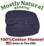 Flannel Duvet Cover Three Quarter Size Navy Blue Color
