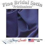 Satin Duvet Cover Three Quarter Size Navy Blue Color