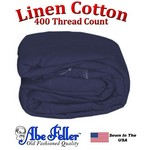 Linen Duvet Cover Three Quarter Size Navy Blue Color