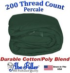 Three Quarter Olive Green Duvet Cover Percale Cotton Poly Blend