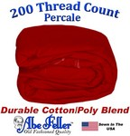 XL Full Red Duvet Cover Percale Cotton Poly Blend