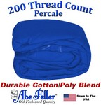 XL Full Royal Blue Duvet Cover Percale Cotton Poly Blend