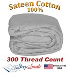 Sateen Duvet Cover Olympic Queen Size Silver Color