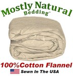 Flannel Duvet Cover Three Quarter Size Natural Color