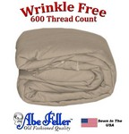Wrinkle Less Duvet Cover Queen Size Taupe Color