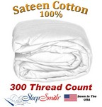 Sateen Duvet Cover Olympic Queen Size White Color