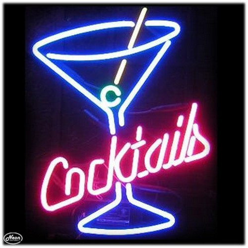 Martini Cocktails Neon Bar Sign