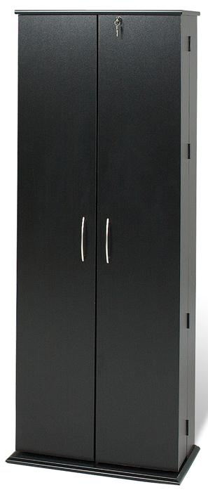 Fantastic Black Grande Tall Locking Media Storage Cabinet By Prepac Download Free Architecture Designs Scobabritishbridgeorg