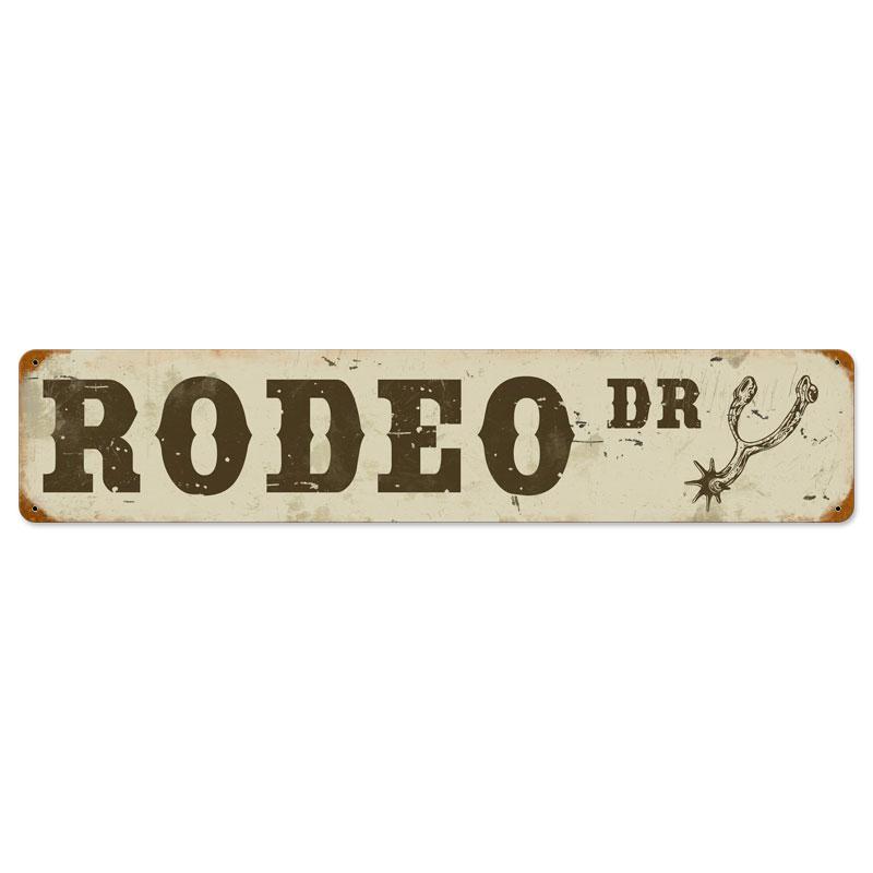 Rodeo Drive Vintage Metal Sign