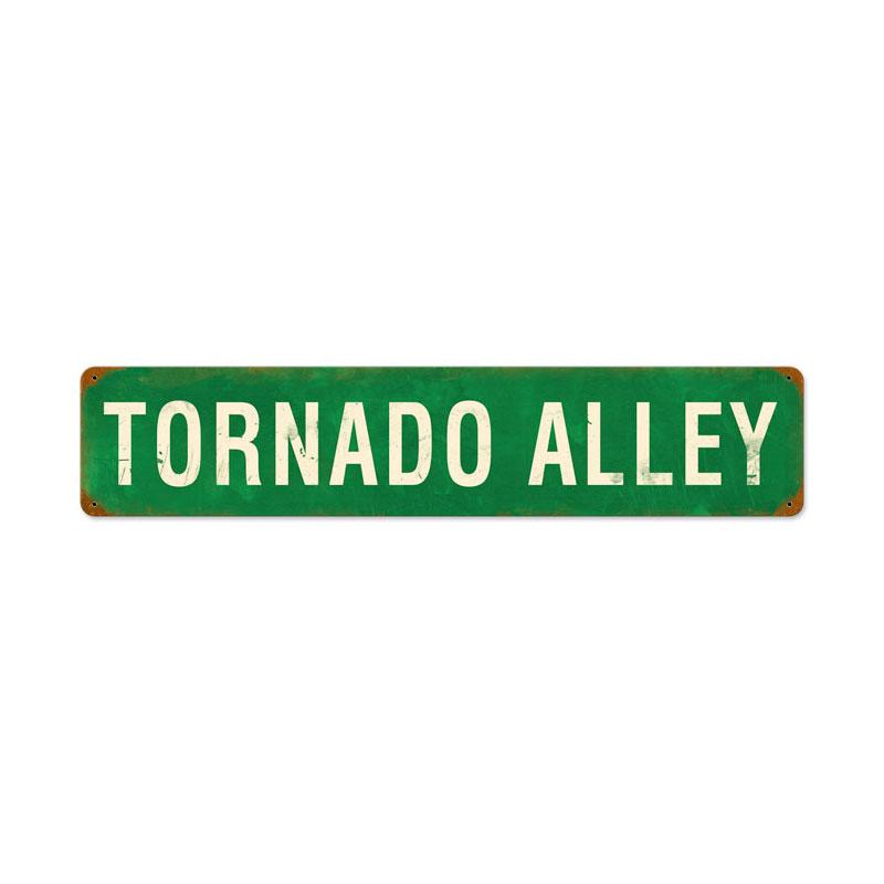 Tornado Alley Vintage Metal Sign
