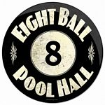 8 Ball Pool Hall Metal Sign