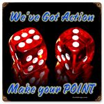 Dice Make Point Vintage Metal Sign