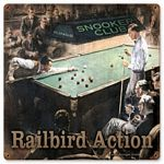 Railbirds Vintage Metal Sign