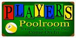 Players Poolroom Vintage Metal Sign