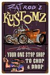 Rat Rodz Kustomz Vintage Metal Sign