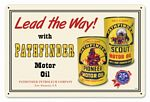 Pathfinder Oil Metal Sign