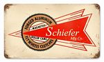 Schiefer Mfg Vintage Metal Sign