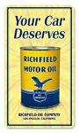 Richfield Oil Can Metal Sign