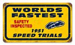 Bonneville 1971 Speed Trials Vintage Metal Sign