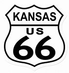 Route 66 Kansas Metal Sign