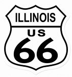 Route 66 Illinois Metal Sign